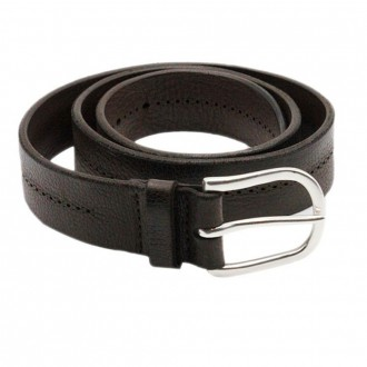 Leather Chevrette Col Testa Di Moro Belt