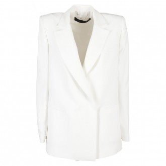 Double-breasted Shoulder Jacket White