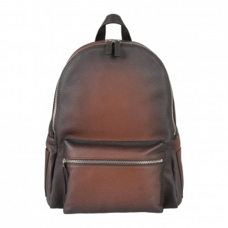 Cigar Hammered Leather Backpack