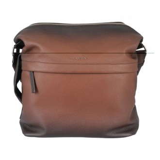 Deep Micron Leather Cigar Shoulder Bag