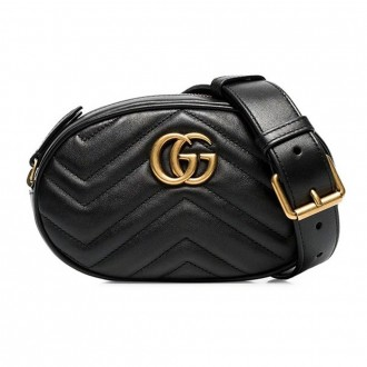 Black Marmont Leather Belt Bag