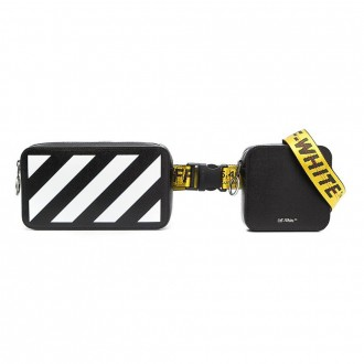 Belt Bag In Black And White Leather