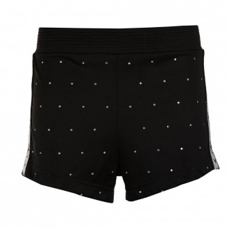 Track shorts with crystals