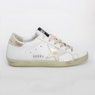 White / Gold Sneakers