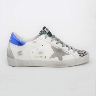 White / Bluette / Leopard Sneakers