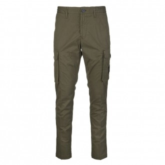 Olive Green Tapered Trousers