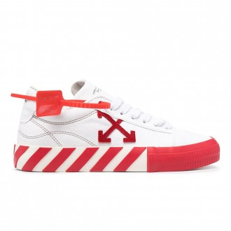 White And Red Vulcanized Sneakers