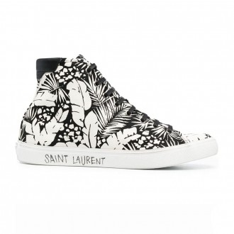 Sneakers In Black And White Fabric