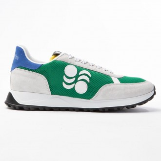 Green Touring Leather Sneakers
