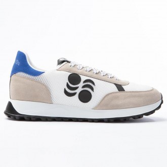 White Touring Leather Sneakers