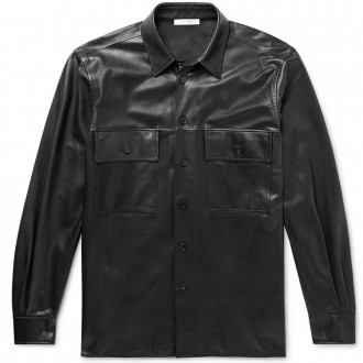 Johnny leather shirt jacket