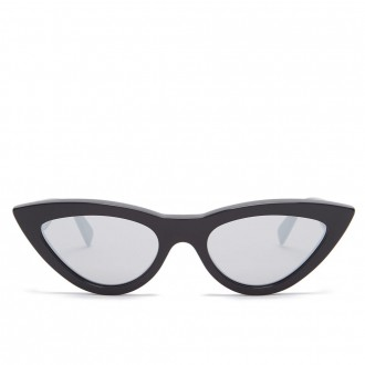 Cat-eye mirrored acetate sunglasses