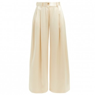 Brixton silk wide-leg trousers