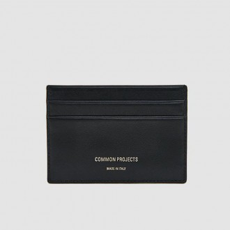 Multi card holder in black soft leather
