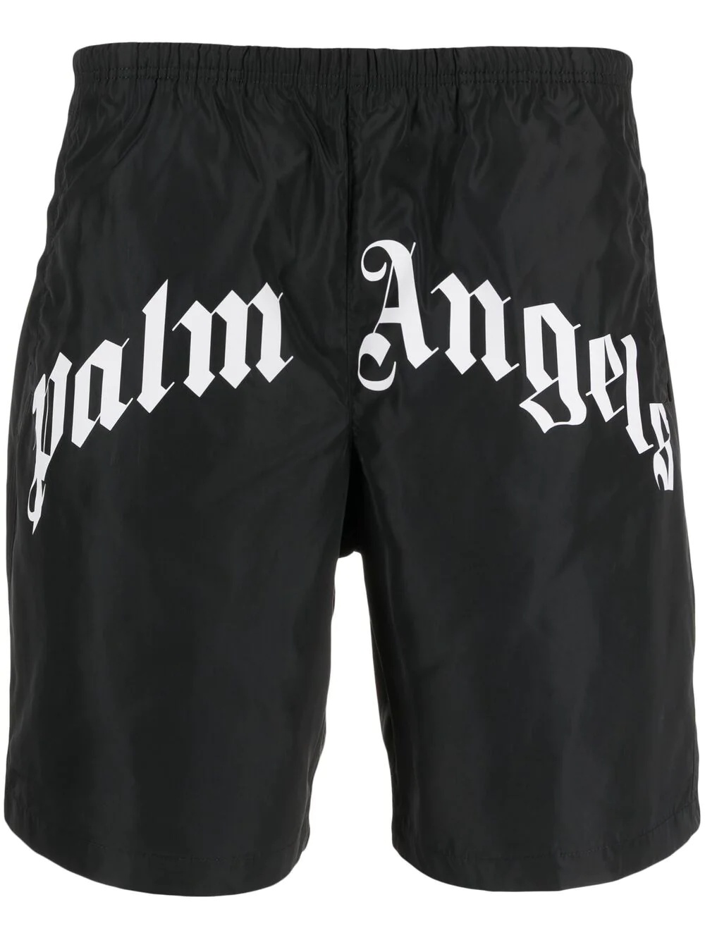 PALM ANGELS Black Swimsuit With Maxi Front Logo