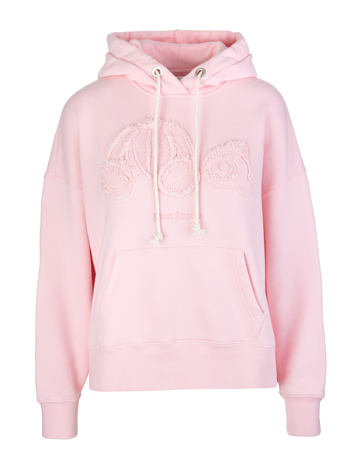 PALM ANGELS Woman Pink Hoodie With Knitted Bear