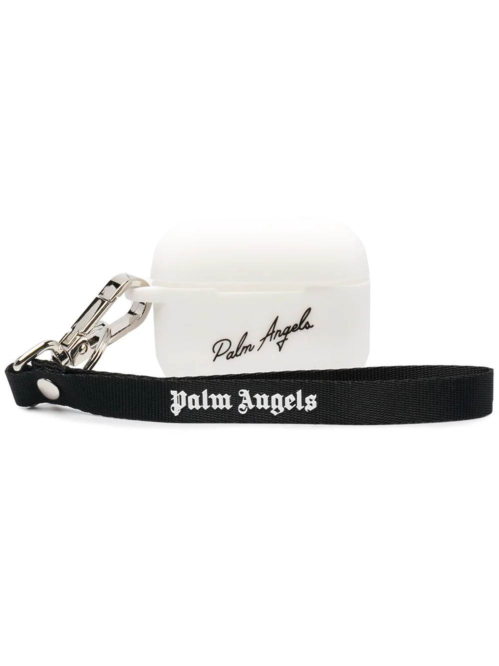 PALM ANGELS White And Black Miami Logo Airpods Pro Case