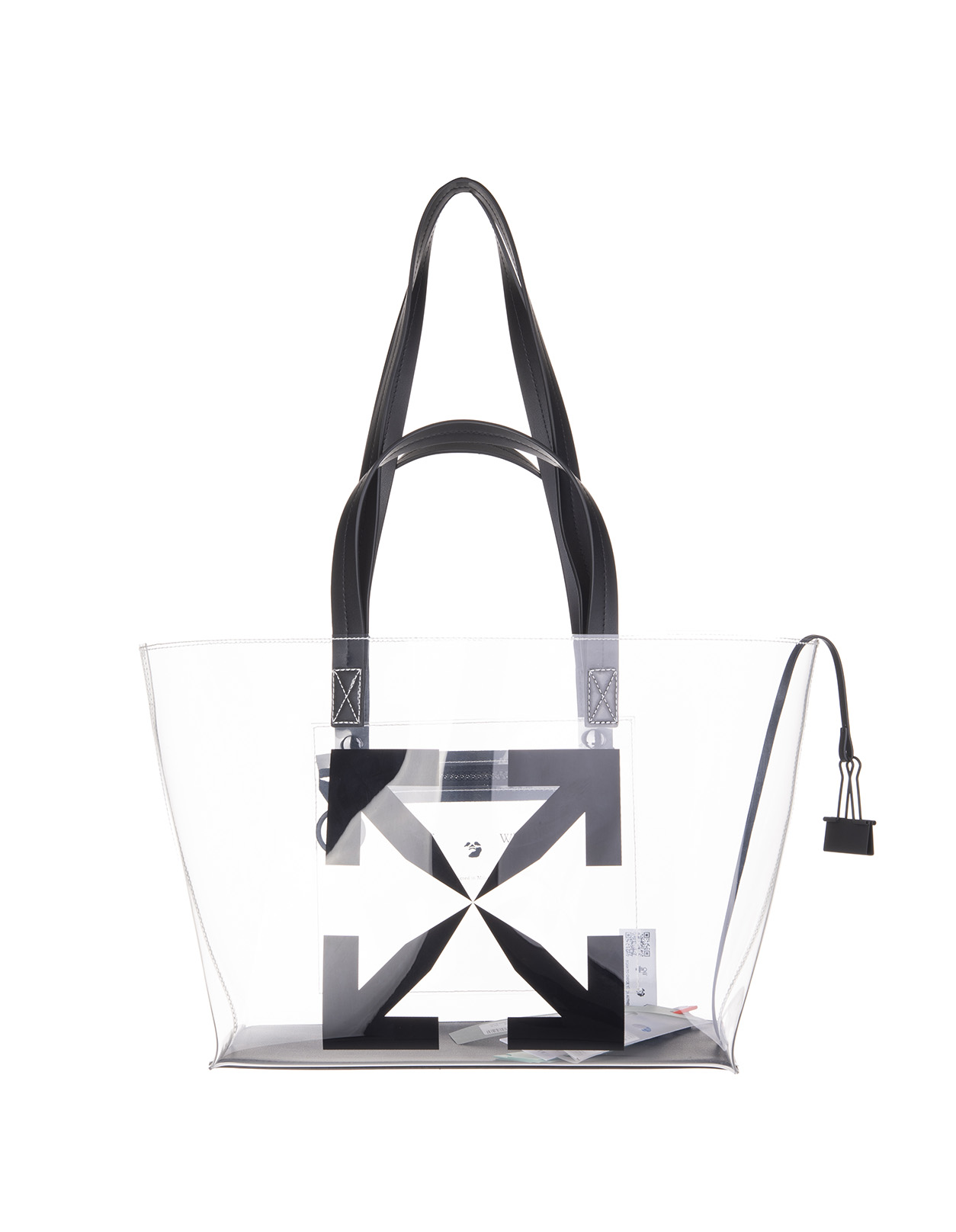 OFF-WHITE Transparent Small Arrows Tote Bag