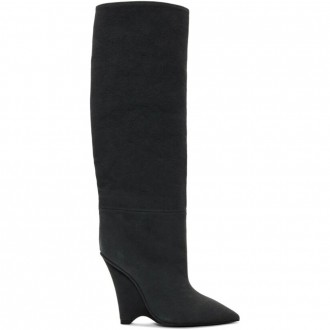 Canvas Wedge Boots