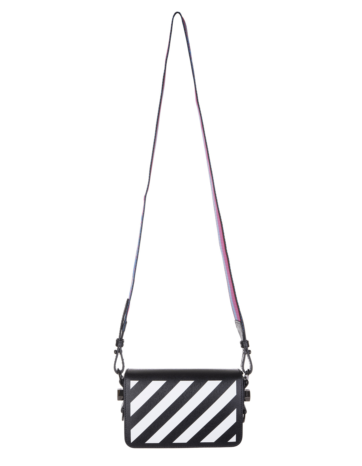 OFF-WHITE Black Diag Mini Shoulder Bag
