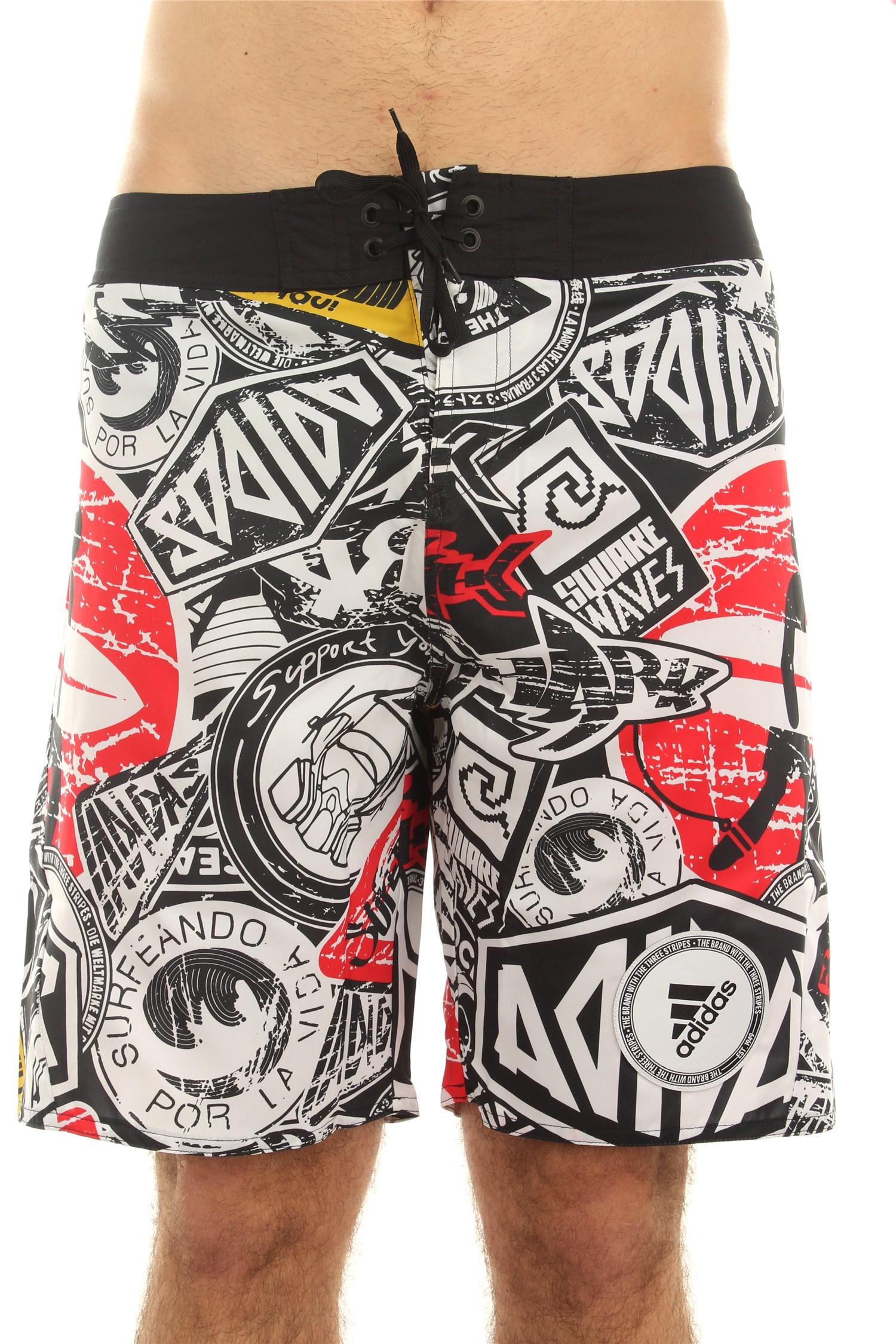 Adidas Swimwear Sea shorts Man Black / white
