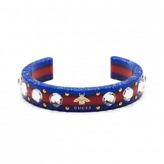 Crystal-embellished Web Cuff Bracelet