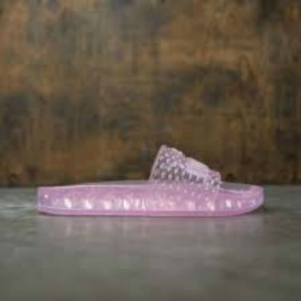 X FENTY BY RIHANNA WOMEN JELLY SLIDES (PINK / PRISM PINK)