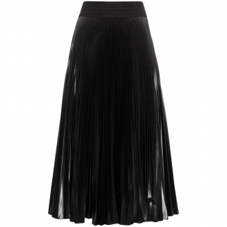 Shiny Nylon Pleated Skirt