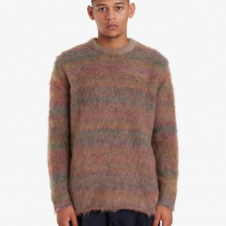NIKOS SWEATER NUTMEG BROWN MELANGE