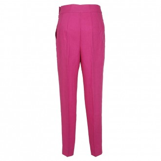 Fuchsia High Waist Trousers
