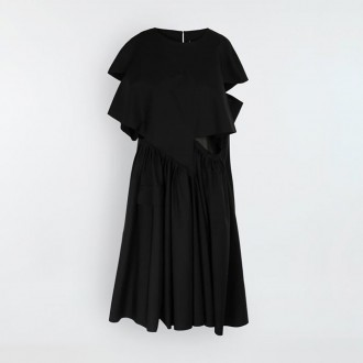 Midi Dress With Gathere
