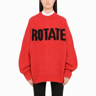 Brandy Red Sweater With Logo
