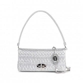 Iconic Crystal Cloqué Nappa Leather Bag