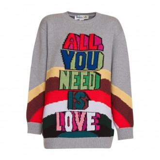 'All You Need Is Love' Oversize Wool Pullover