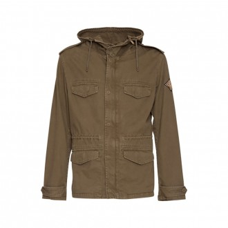 Parka With Logo Patch