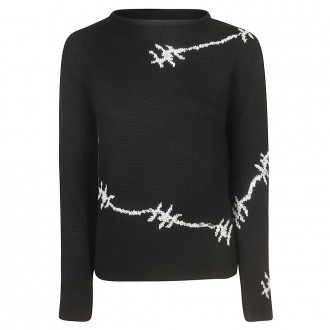 Cashmere Blend Sweater With Embroidery