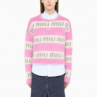 Sweater With Pink And Cream Logo