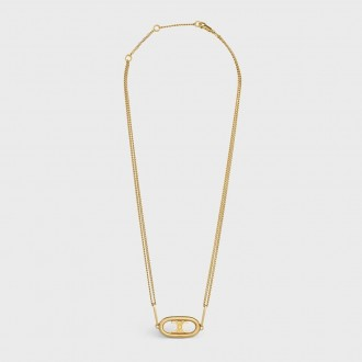 Maillon Triomphe Necklace In Gold Brass