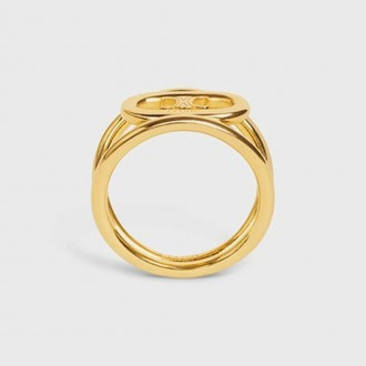 Maillon Triomphe Bold Ring In Brass With Gold Finish