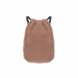 Camel-colored Shearling Backpack