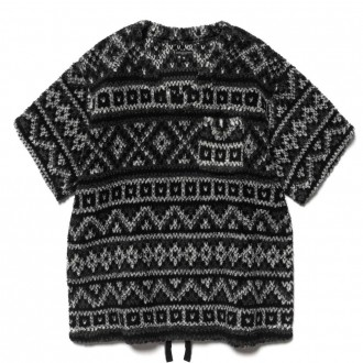 U Neck Popover Poly Acrylic Fair Isle Sweater Knit