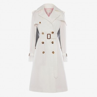 Pieced Trench Coat