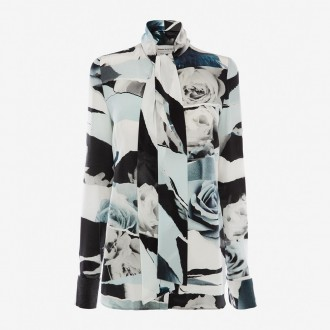Torn Rose Silk Shirt
