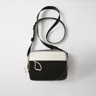 Mixed Material Bag Black/White