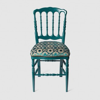 Wood Chair With Gg Jacquard