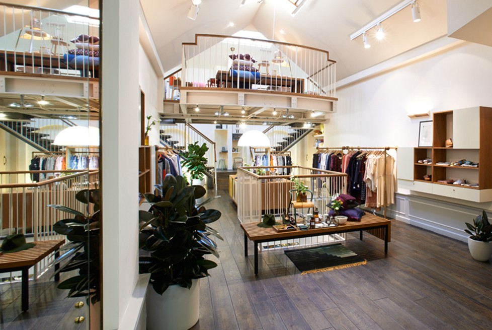 an image of the inside of a clothing shop